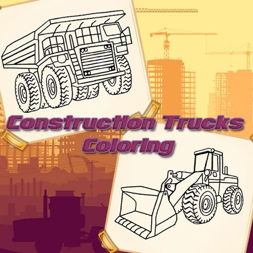 Construction Trucks Coloring