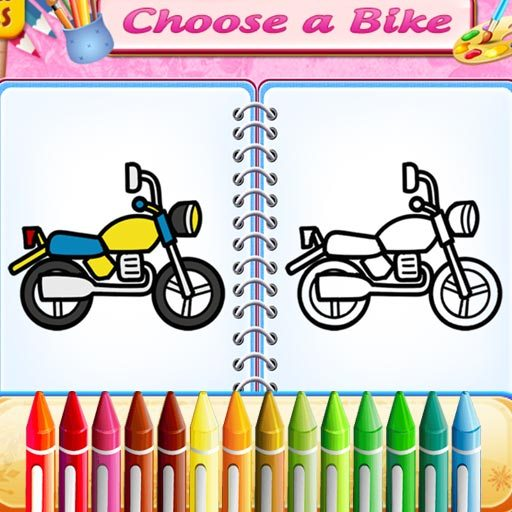 Cute Bike Coloring Book