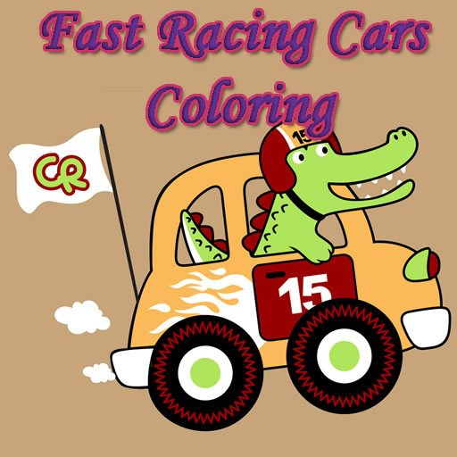 Fast Racing Cars Coloring