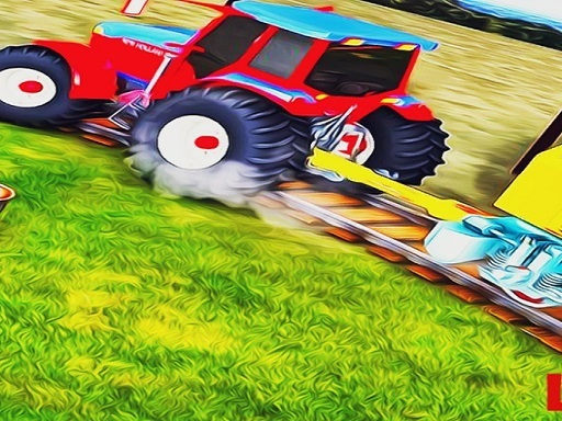 Heavy Duty Tractor Towing Train Games