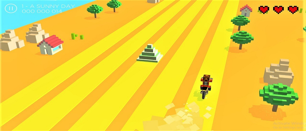 Infinite Bike Runner Game 3D