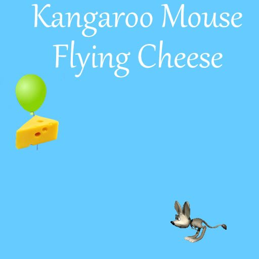 Kangaroo Mouse Flying Cheese