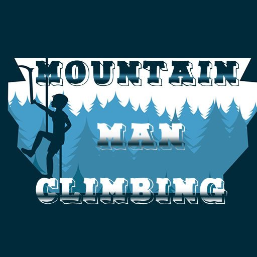 Mountain Man Climbing
