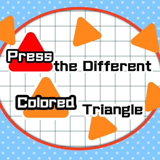 Press the different Colored Triangle