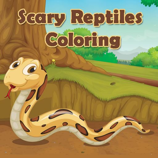 Scary Reptiles Coloring
